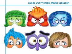 Unique Inside Out Printable Masks Collection,mask,photo booth props,Emotions coctume,kids dress up mask,party favors,Inside Out Birthday
