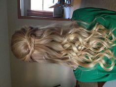 Half up twisted curls
