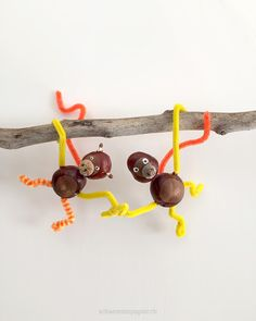 Today there are two sweet monkeys from horse chestnuts Schaerestei paper Autumn Crafts, Fall Crafts For Kids, Family Crafts, Nature Crafts, Diy For Kids, Crafts To Make, Christmas Crafts, Diy Crafts, Paper Crafts