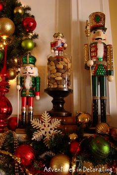 And, thank you all SO much for your thoughtful comments about my whimsical Christmas kitchen decor! I really appreciate it . Christmas Mantels, Noel Christmas, Winter Christmas, All Things Christmas, Victorian Christmas, Christmas Christmas, Vintage Christmas, Christmas Ornaments, Nutcracker Christmas Decorations