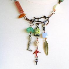 Talisman Necklace Tree Branch Statement Necklace by ThreeTrees, $58.00
