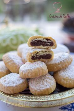 Maamoul Recipe, Egyptian Food, Filled Cookies, Lebanese Recipes, Middle Eastern Recipes, Sweet And Salty, Sweet Recipes, Yummy Recipes, Cookie Decorating