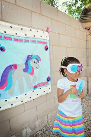 Maddycakes Muse: My Little Pony Birthday Party. Pin the horn on the unicorn
