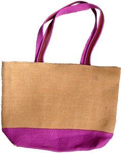 Ladies Shoulder bag of Jute and Leather 86578515f2322