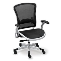 Linear Collection Mesh-Back Chair with Mesh Seat - Mesh Office Chair | National Business Furniture