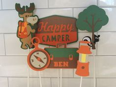 Hey, I found this really awesome Etsy listing at https://www.etsy.com/listing/183784672/camp-theme-birthday-party-centerpiece