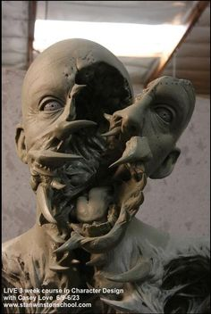 """""""Griggs"""" Head sculpture by Casey Love for Amalgamated Dynamics. Film: """"The Thing"""""""