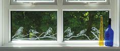 Suburban Garden (960mm x 154mm) Visual Designs by Peels of London Stained Glass Window Film www.e-peels.co.uk