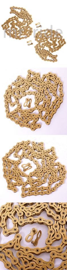 Chains 42320: Mr-Ride 2Pcs Kmc Gold X10sl 10 Speed Chain 112 Links For Campy Campagnolo -> BUY IT NOW ONLY: $68.94 on eBay!