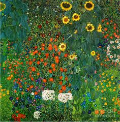 country-garden-with-sunflowers-by-gustav-klimt-pg-reproductions.jpg (883×900)