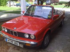 1989 BMW e30 325i convertible Zinnoberrot red