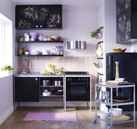 Modern small kitchen cabinet design gallery of simple creative tiny kitchen design small space u shaped Kitchen Design Small, Kitchen Cabinet Design, Tiny Kitchen Design, Kitchen Remodel, Freestanding Kitchen, Kitchen Decor Modern, Ikea Small Spaces, Simple Kitchen Design, Modern Kitchen Design
