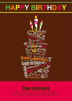 vector set of Happy birthday cake card material 03 Happy Birthday Celebration, Happy Birthday Messages, Happy Birthday Parties, Happy Birthday Quotes, Happy Birthday Greetings, Happy Birthdays, Happy Birthday Cake Pictures, Birthday Cake Card, Birthday Posts