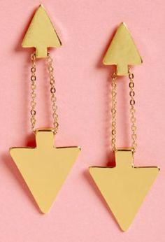 Arrow earrings from Lulus.com #piphi #pibetaphi