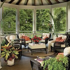 75 Breezy Porches and Patios.Patios and porches are an integral part of Southern culture. These classics are inviting and inspiring. Porch and Patio Design Inspiration - Southern Living Outdoor Rooms, Outdoor Living, Outdoor Furniture Sets, Outdoor Decor, Wicker Furniture, Outdoor Patios, Black Furniture, Outdoor Kitchens, Backyard Patio