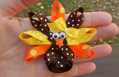 Thanksgiving+Turkey+Hair+Clip/+Hairclip+/+by+CrystalNMeDesigns,+$4.99