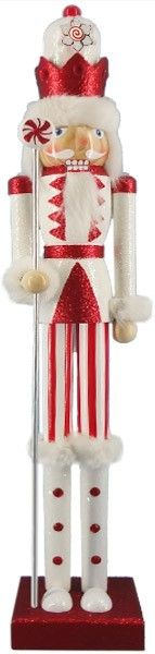 20 inch slim Nutcracker - Candy Cane - Retail - Nutcracker Ballet Gifts