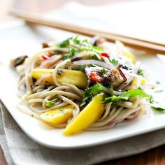 Soba Noodles with Swiss Chard–Miso Pesto | Recipe | Soba Noodles ...