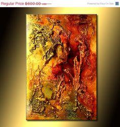 Original Art Modern Art Texture Art Metallic by newwaveartgallery, $540.00