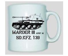 Tasse Marder 3 SD.KFZ 139 / mehr Infos auf: www.Guntia-Militaria-Shop.de
