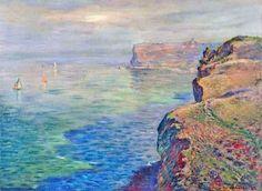 Claude Monet, Cliff at Grainval near Fecamp, 1881 on ArtStack #claude-monet #art