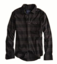 AE Striped Workwear Shirt Who doesn't love fall fashion? Available at American Eagle in Shawnee Mall!