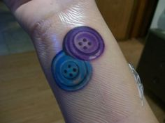 Sewing Button Tattoo Designs | ... had to be included! A tattoo, and Buttons what more could one ask for