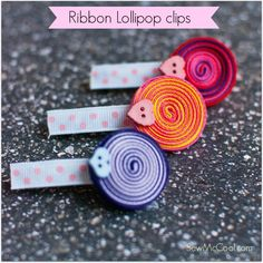 Try these cute Ribbon lollipop clips by Sewmccool.com! They look so cute in your little ones' hair...and they're really fast and easy to make!