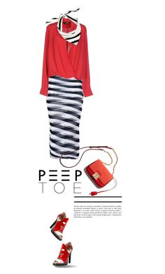 """#peeptoe"" by vinograd24 ❤ liked on Polyvore featuring Fendi, STELLA McCARTNEY, A'biddikkia, Valentino and peeptoe"