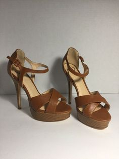 bd31ae09f9 New Windsor Tan Brown Open Toe High Heels Size 7 Without Box #fashion  #clothing