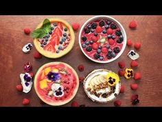 4 Beautiful Smoothie Bowls - YouTube