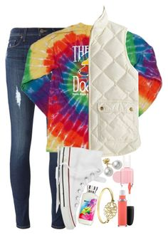 """""""horrible set"""" by elizabethannee ❤ liked on Polyvore featuring Hudson, J.Crew, Converse, Mikimoto, Essie, MAC Cosmetics, women's clothing, women, female and woman"""