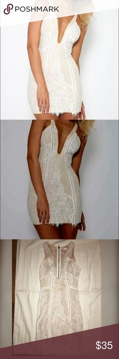 Gorgeous White and Cream Lace Dress Above the knee white and cream body on dress peppermayo Dresses Mini