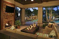 43 Cozy Outside Living Room Designs Ideas 79 Florida Room Designs Pool Tropical with Outdoor Fireplace 5 Living Pool, Outdoor Living Rooms, Outside Living, Living Spaces, Design Café, Patio Design, Design Ideas, Interior Design, Casa Patio