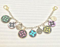 Veelkleurige Monogram Logo Bag Charm - sleutelhanger-Bag decoratie-munten armband-key ring-munten tas charme-LV tas charme-munt charmes