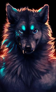"""Beware The Werewolf"" by TamberElla @ deviantart. Fantasy Wolf, Fantasy Art, Fantasy Creatures, Mythical Creatures, Anime Animals, Cute Animals, Tier Wolf, Image Fairy Tail, Vampires And Werewolves"
