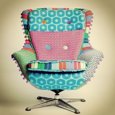 Photo by gibidesign - Deryn Relph Winnie Chair #furniture #colorful #rainbowcolors #polkadots