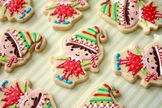 Elf cookies by Renee at Bee's Knees Creative on FB