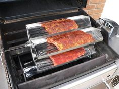 Rib-O-Lator Rotating Barbecue Rotisserie - Fits Onto Any Grill Barbecue Design, Barbecue Grill, Pit Bbq, Junk Food, Bbq Pics, Avocado Tatar, Bbq Rotisserie, Gas Grill Reviews, Custom Bbq Pits