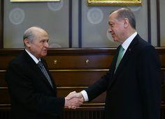 Erdoğan, Bahçeli görüşmesi sona erdi. LİSELİ AŞIKLAR GİBİ BOP ORTAKLARI.