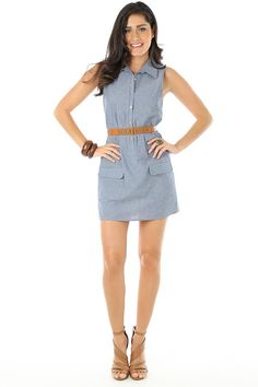 Button Down Belted Dress Funky Soul
