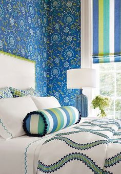 1000 images about thibaut fabrics on pinterest for Turquoise wallpaper for bedroom