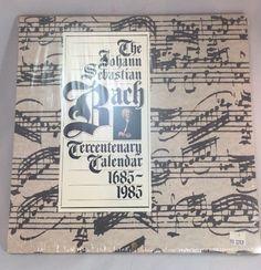 NIP New 1685 - 1985 Johann Sebastian Bach Tercentenary Wall Calendar Sebastian Bach, Vintage Artwork, Artwork Prints, Calendar, Bullet Journal, Wall, Ebay, Vintage Graphic