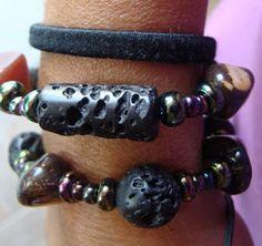Bραχιόλια με αυθεντικές λάβες...!! Bracelets, Jewelry, Fashion, Moda, Jewlery, Jewerly, Fashion Styles, Schmuck, Jewels