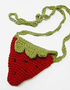"Ravelry: Strawberry Pouch pattern by Melissa ""Missa"" Hills Crochet Shell Stitch, Crochet Tote, Crochet Handbags, Crochet Purses, Knit Or Crochet, Crochet Gifts, Crochet For Kids, Crochet Hooks, Crochet Baby"