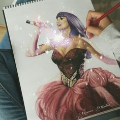 Katy Perry drawing by Rkeytocreate on ig