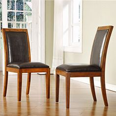@Overstock.com - Provide additional guest seating with these wooden side chairs. The solid poplar wood construction and cherry stain of these side chairs offer reliable durability and will afford any dining room with a sophisticated look you will love.http://www.overstock.com/Home-Garden/Aiden-Dark-Chocolate-Side-Chairs-Set-of-2/2484344/product.html?CID=214117 $150.04