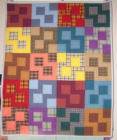 From Anita Grossman Solomon's Book Rotary Cutting Revolution. Baby quilt for Shiloh Ne'eman Witt.