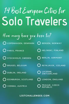 """""""Europe is one of the best places to go for a solo trip—there's great tourist infrastructure, and the people are friendly. Here, 14 Travel Info, Travel Bugs, Travel List, Travel Goals, Solo Travel, Time Travel, Beautiful Places To Travel, Cool Places To Visit, Romantic Travel"""