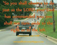 A Joy Filled Woman : Verse of the Week -Deuteronomy 5:32 - September 1, 2015